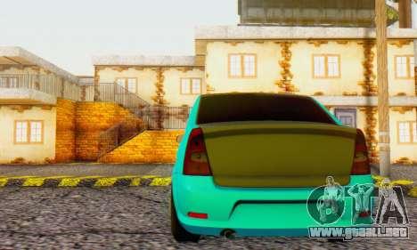 Dacia Logan Pearl Blue para GTA San Andreas vista hacia atrás