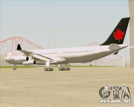 Airbus A340-313 Air Canada para GTA San Andreas vista posterior izquierda
