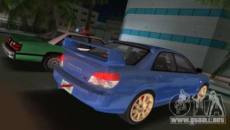 Subaru Impreza WRX STI 2006 Type 1 para GTA Vice City left