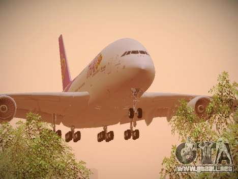 Airbus A380-800 Thai Airways International para GTA San Andreas left