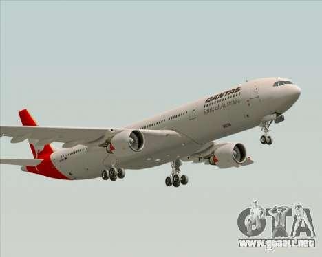 Airbus A330-300 Qantas para vista lateral GTA San Andreas