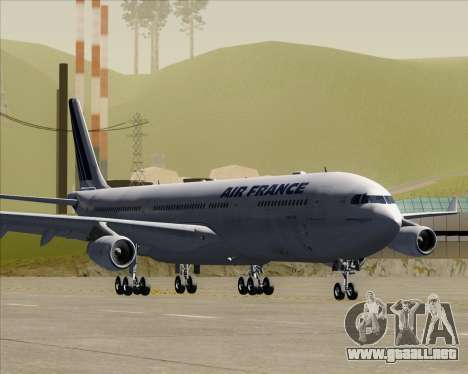 Airbus A340-313 Air France (Old Livery) para GTA San Andreas left