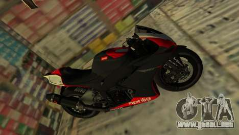 Aprilia RSV4 2009 Original para GTA Vice City vista lateral izquierdo