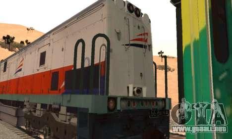 GE U18C CC 201 Indonesian Locomotive para la visión correcta GTA San Andreas