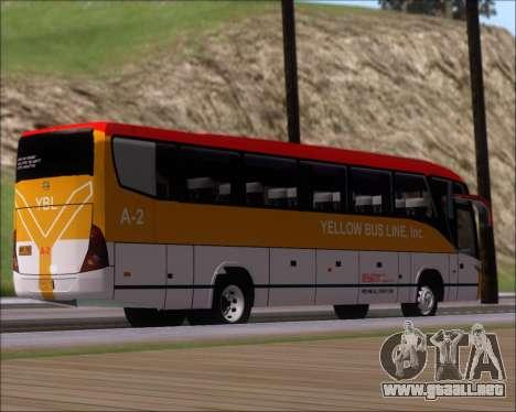 Marcopolo Paradiso G7 1050 Yellow Bus Line A-2 para la visión correcta GTA San Andreas