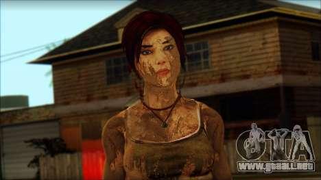 Tomb Raider Skin 10 2013 para GTA San Andreas tercera pantalla