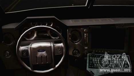 FBI Armored Vehicle v1.2 para GTA San Andreas vista posterior izquierda
