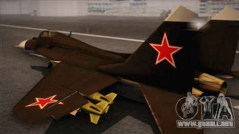 MIG 29 Russian Air Force From Ace Combat para GTA San Andreas left