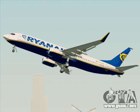 Boeing 737-8AS Ryanair para la vista superior GTA San Andreas