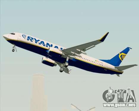 Boeing 737-8AS Ryanair para la vista superior GTA San Andreas