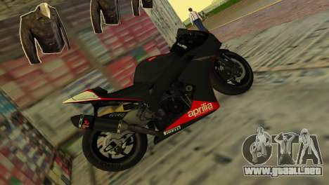 Aprilia RSV4 2009 Original para GTA Vice City left