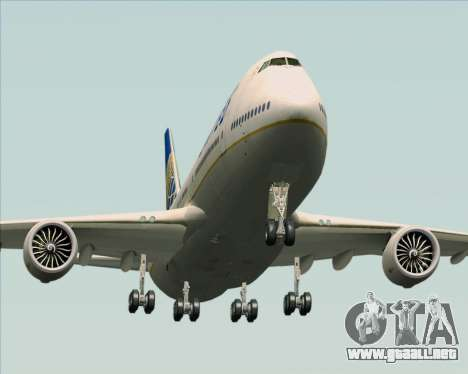 Boeing 747-8 Intercontinental United Airlines para visión interna GTA San Andreas