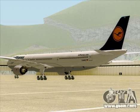 Airbus A330-300 Lufthansa para GTA San Andreas vista hacia atrás