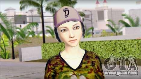 Adultos Clementine para GTA San Andreas tercera pantalla