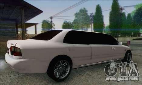 Proton Wira Official Malaysian Limousine para GTA San Andreas left