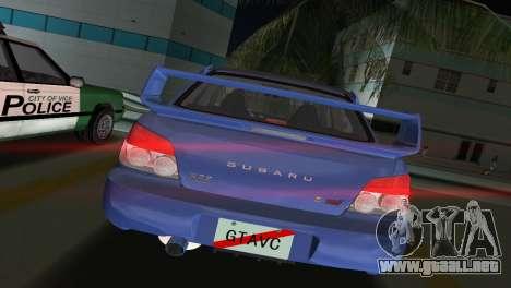Subaru Impreza WRX STI 2006 Type 1 para GTA Vice City vista lateral izquierdo