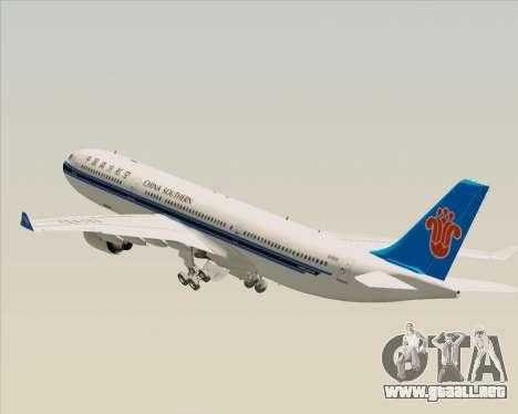 Airbus A330-300 China Southern Airlines para las ruedas de GTA San Andreas