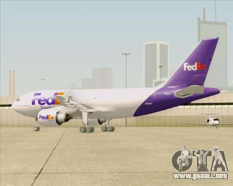 Airbus A310-300 Federal Express para vista inferior GTA San Andreas