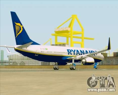 Boeing 737-8AS Ryanair para la visión correcta GTA San Andreas