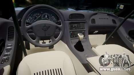 Chevrolet Corvette Z06 (C5) 2002 v2.0 para GTA 4 vista interior