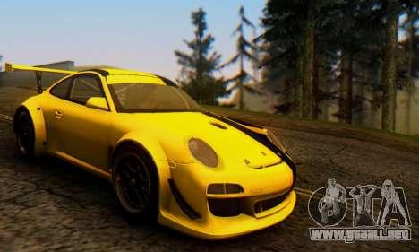 Porsche 911 GT3 R 2009 Black Yellow para GTA San Andreas