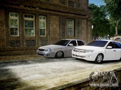 Lada Granta Liftback para GTA 4 vista superior