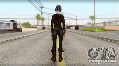 Adultos Clementine para GTA San Andreas segunda pantalla