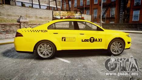 GTA V Vapid Taurus Taxi LCC para GTA 4 left