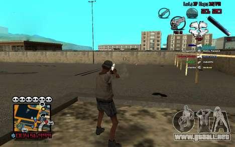 C-HUD by SampHack v.13 para GTA San Andreas segunda pantalla