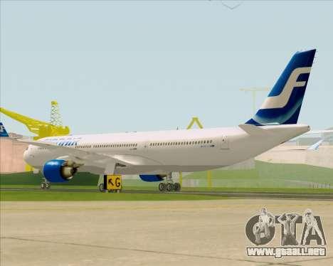 Airbus A330-300 Finnair (Old Livery) para la visión correcta GTA San Andreas