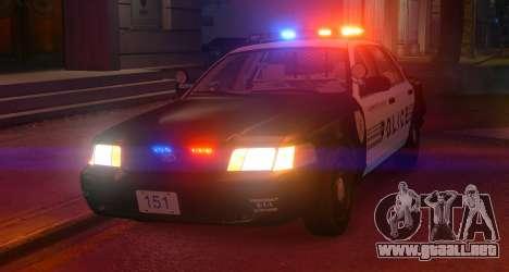 Ford Crown Victoria LCPD [ELS] No Pushbar para GTA 4 left