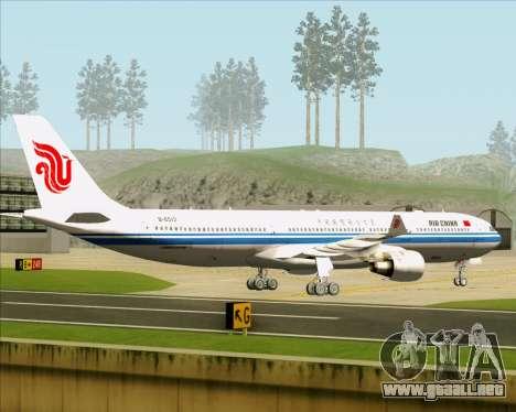 Airbus A330-300 Air China para GTA San Andreas vista hacia atrás