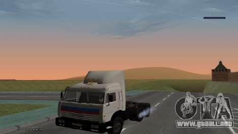 KamAZ-54115 para la visión correcta GTA San Andreas