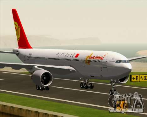 Airbus A330-200 Air China para vista inferior GTA San Andreas