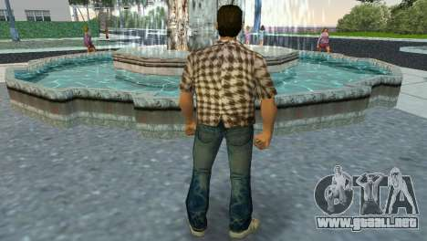 Kockas polo - koszos T-Shirt para GTA Vice City tercera pantalla