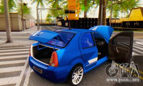 Dacia Logan Tuning Rally (B 48 CUP) para la vista superior GTA San Andreas