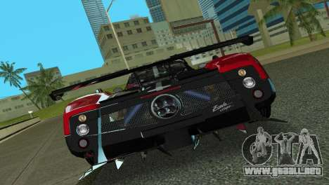 Pagani Zonda Cinque para GTA Vice City vista posterior