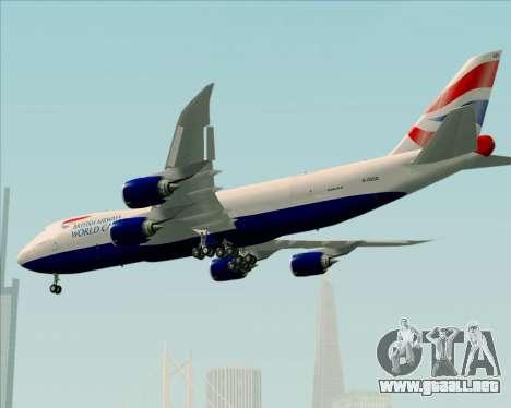 Boeing 747-8 Cargo British Airways World Cargo para las ruedas de GTA San Andreas