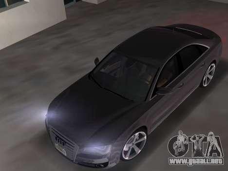 Audi A8 2010 W12 Rim3 para GTA Vice City visión correcta