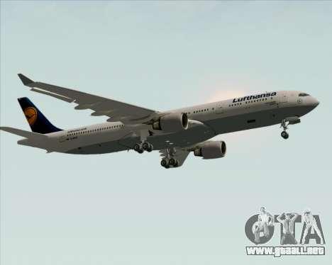 Airbus A330-300 Lufthansa para visión interna GTA San Andreas