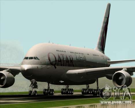 Airbus A380-861 Qatar Airways para GTA San Andreas left