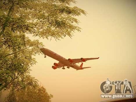 Airbus A340-600 Virgin Atlantic New Livery para visión interna GTA San Andreas