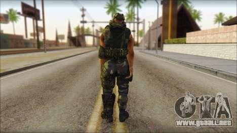 Claude Resurrection Skin from COD 5 v2 para GTA San Andreas segunda pantalla