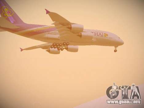 Airbus A380-800 Thai Airways International para visión interna GTA San Andreas