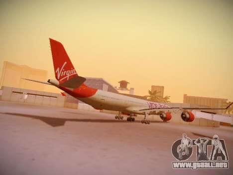 Airbus A340-600 Virgin Atlantic New Livery para la visión correcta GTA San Andreas
