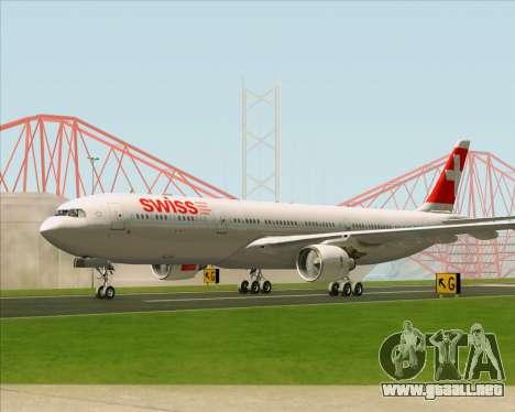 Airbus A330-300 Swiss International Air Lines para visión interna GTA San Andreas