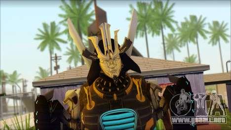 Дрифт (Transformers: el Aumento de la Oscuridad  para GTA San Andreas tercera pantalla