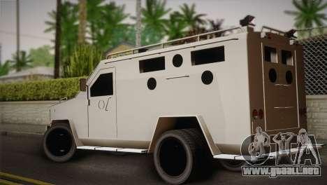 FBI Armored Vehicle v1.2 para GTA San Andreas left