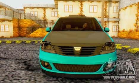 Dacia Logan Pearl Blue para GTA San Andreas left