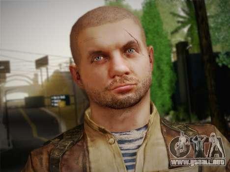 Pablo (Metro Last Light) para GTA San Andreas tercera pantalla